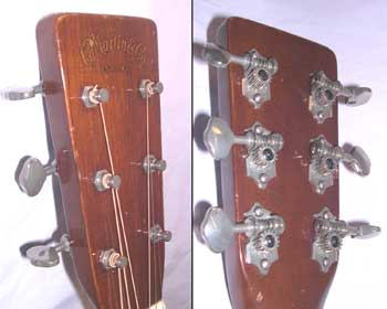 The headstock fully restored and the correct type of key installed.